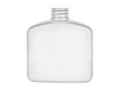 8 oz. White 28-410 Squat Flat Sided Oval HDPE Plastic Bottle w/ Pearl Ivory Lotion Pump 40% OFF